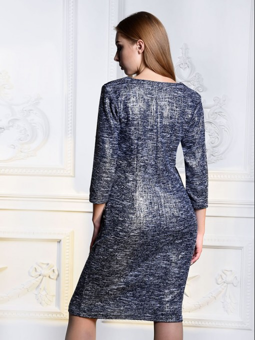 Платье мод. 1764 цвет Серебряный