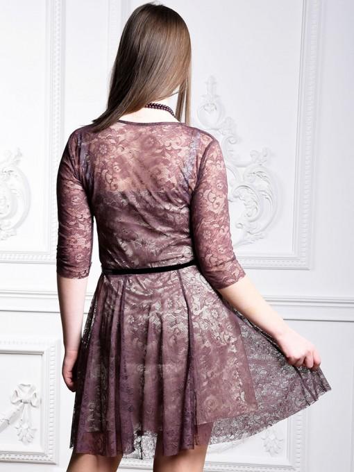 Платье мод. 1767 цвет Шоколадный