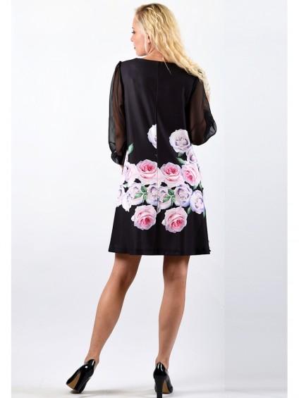 Платье мод. 1777-2 цвет Чёрный