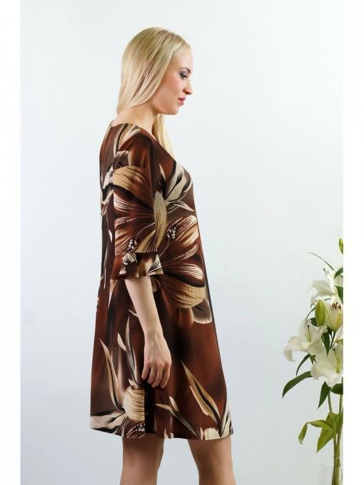 Платье мод. 1777 цвет Коричневый