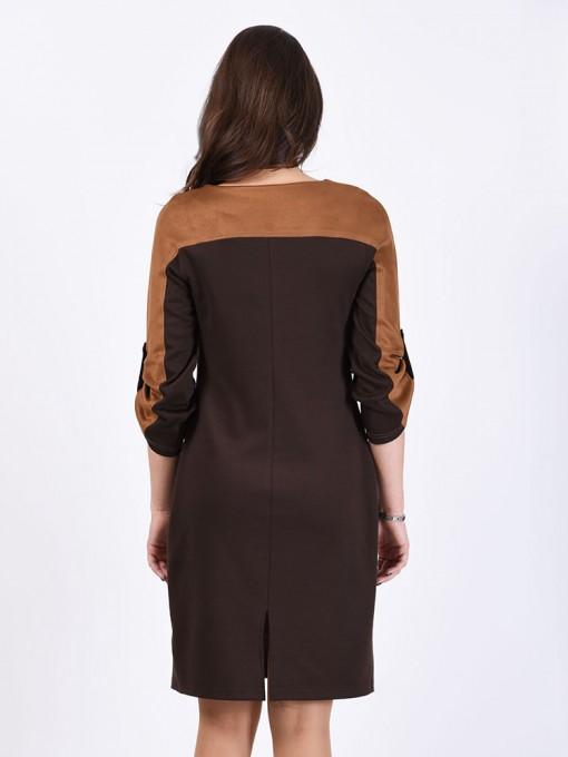 Платье мод. 1784-1 цвет Коричневый