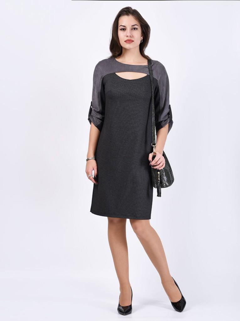 Платье мод. 1784-1 цвет Серый