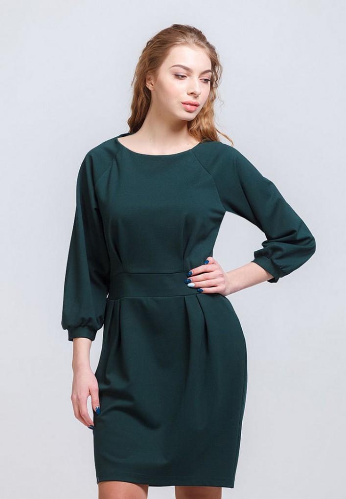 Платье мод. 1786 цвет Изумрудный
