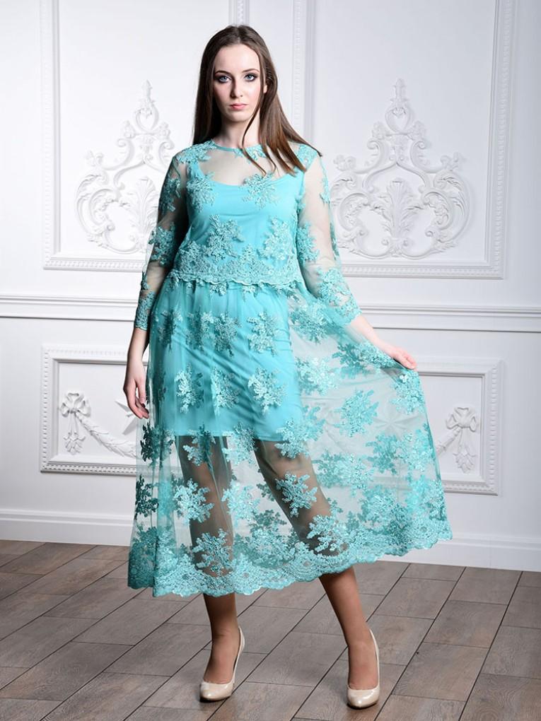 Платье мод. 1794 цвет Мятный