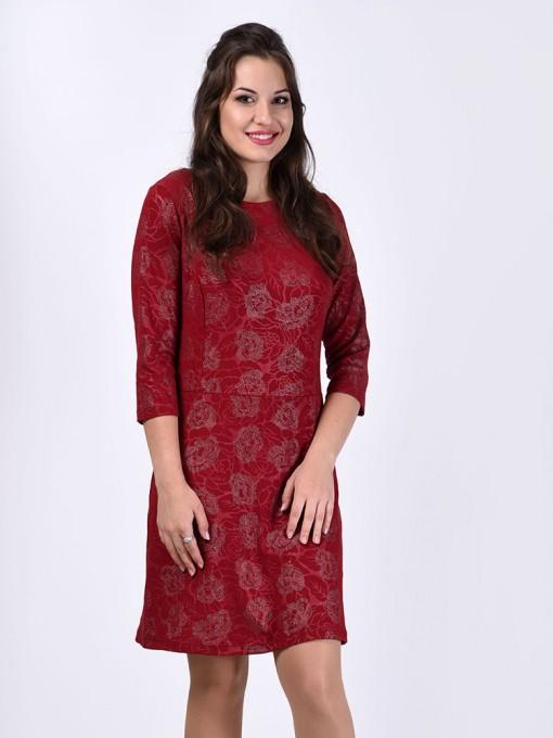 Платье мод. 1796 цвет Бордовый