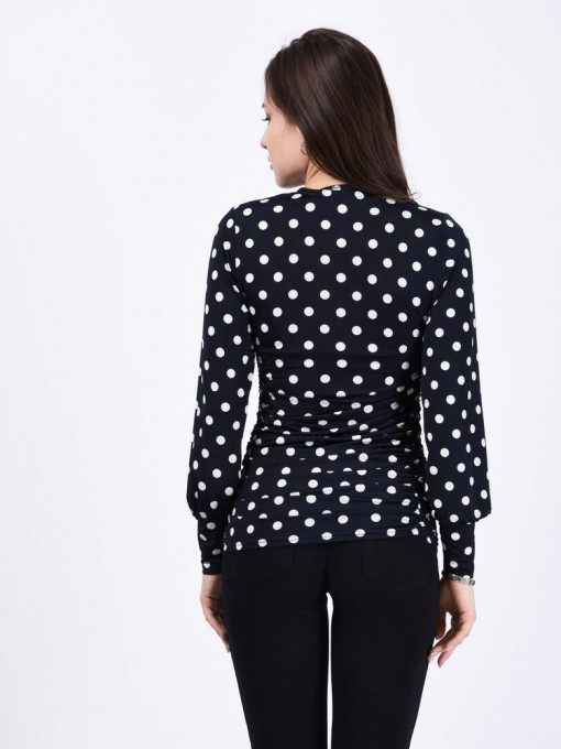 Блуза мод. 1811 цвет Темно-синий
