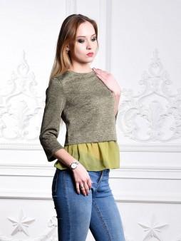 Блуза мод. 1819 цвет Оливковый