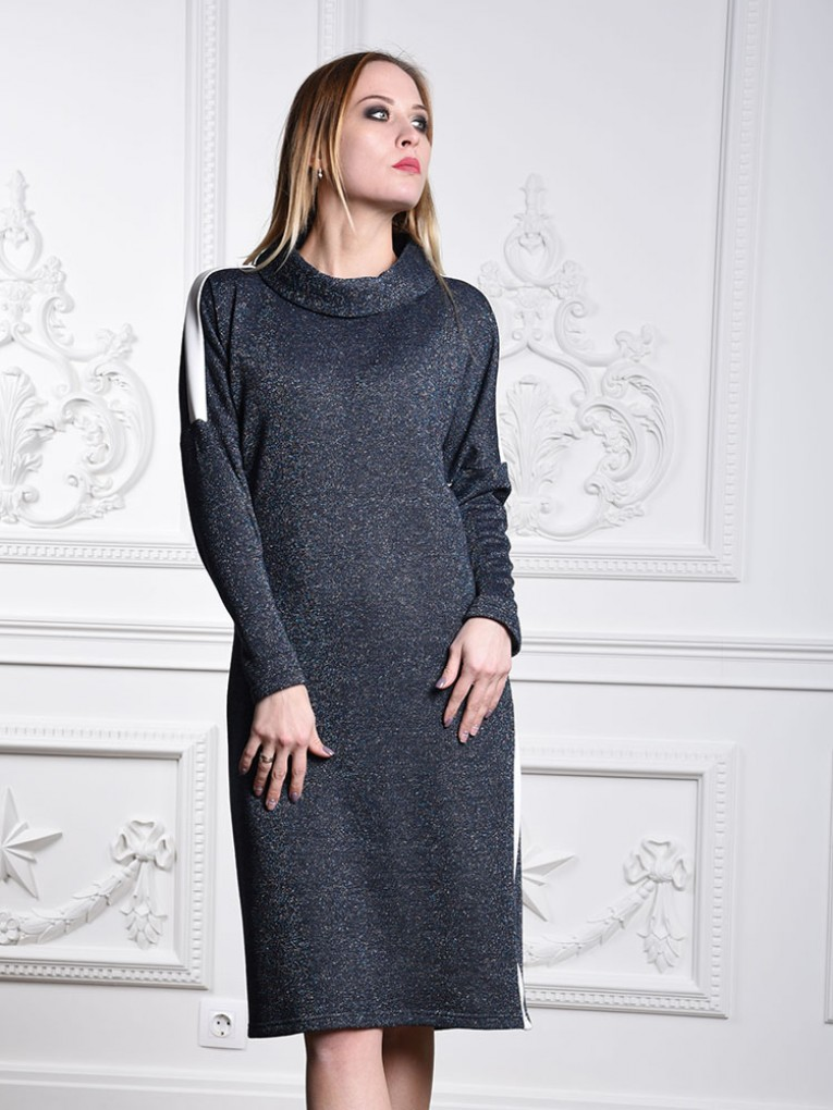 Платье мод. 1821-2 цвет Синий