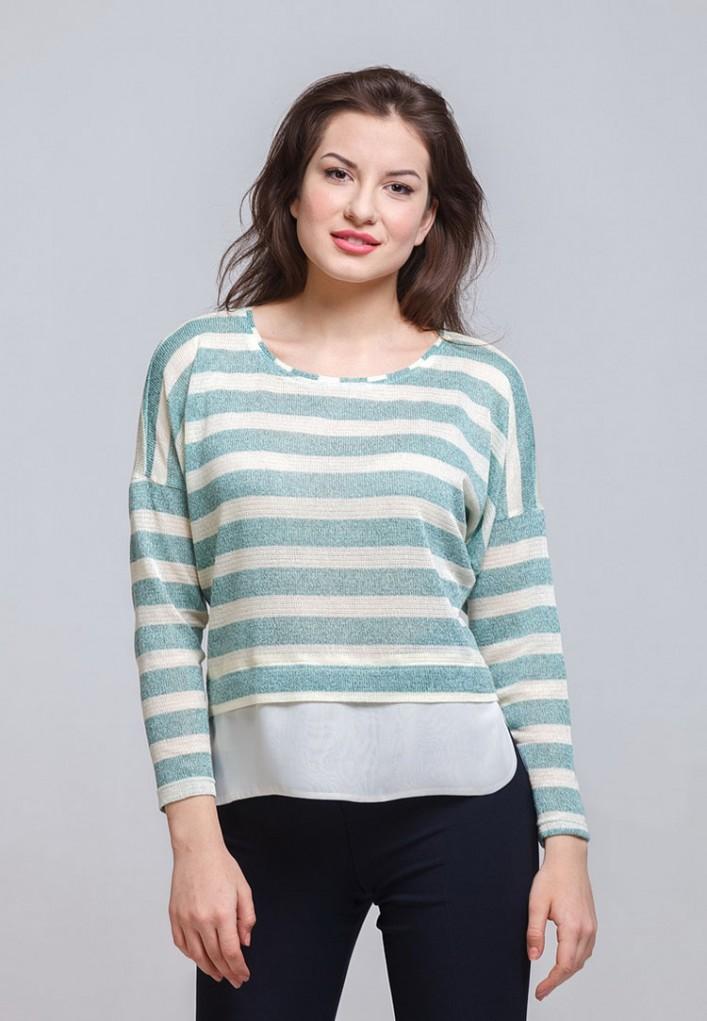 Блуза мод. 1821-4 цвет Зеленый