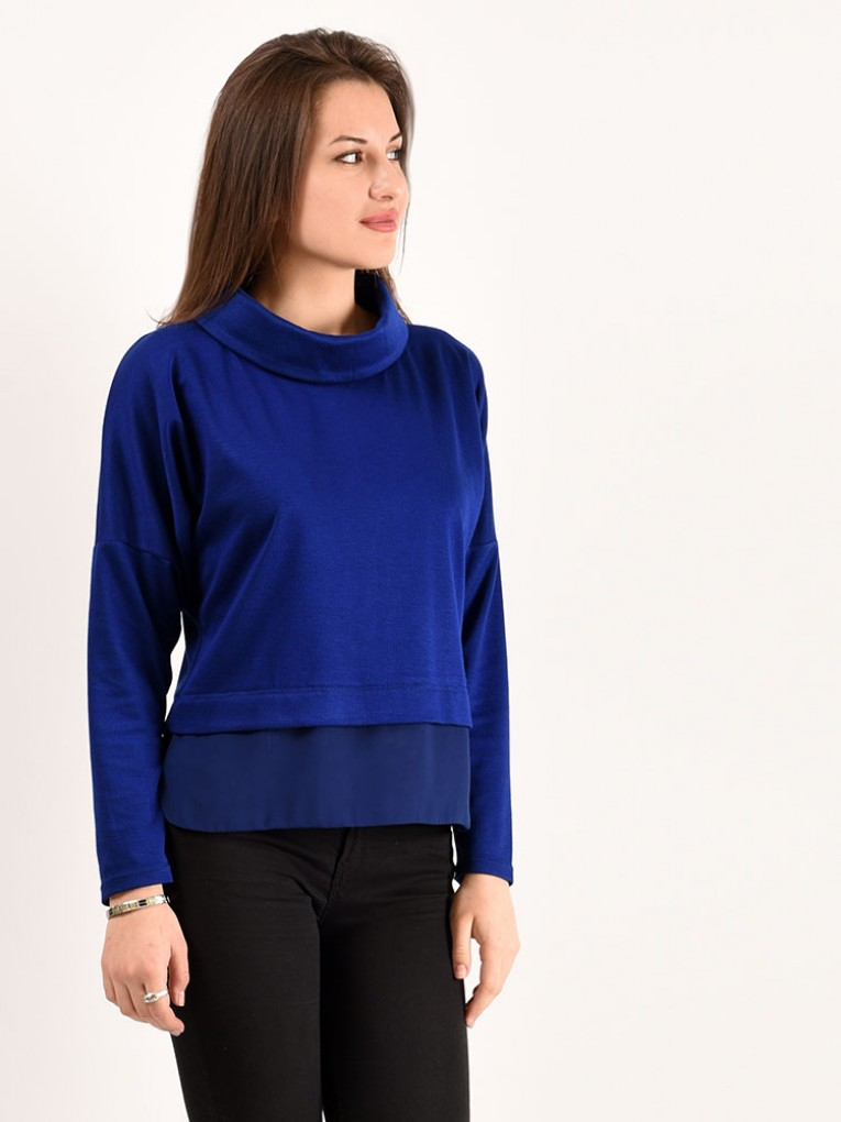 Блуза мод. 1821 цвет Васильковый