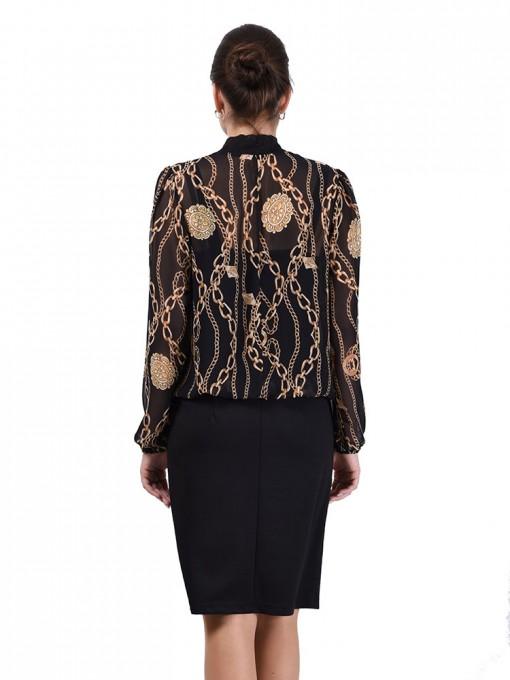 Платье мод. 1828 цвет Черный