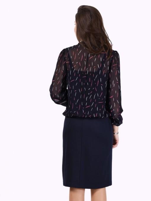 Платье мод. 1828 цвет Темно-синий