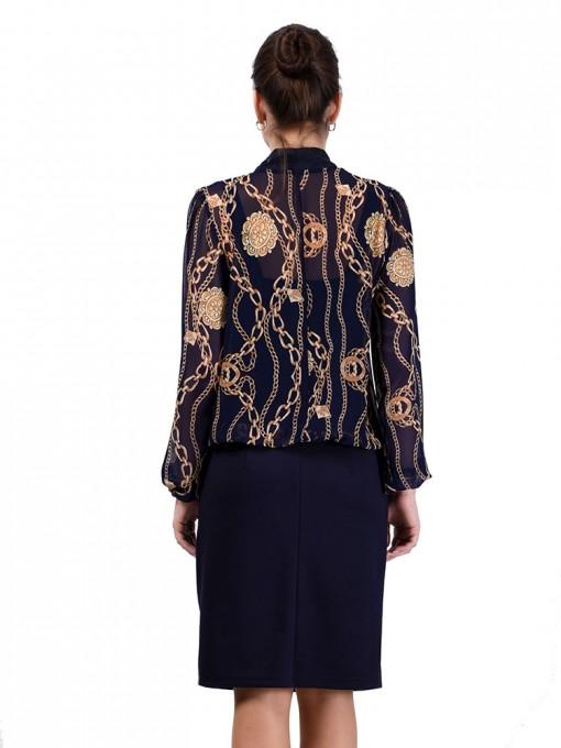 Платье мод. 1828 цвет Синий