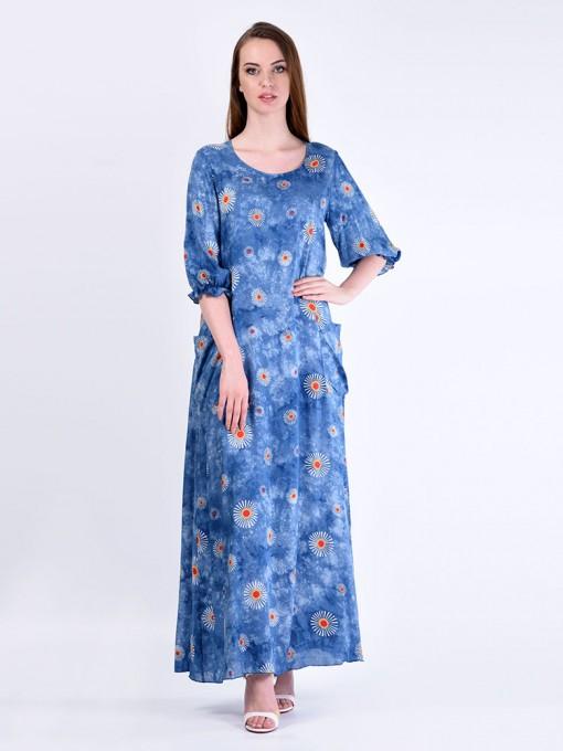 Платье мод. 2701-3 цвет Голубой