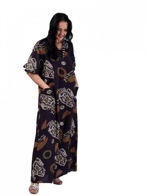 Платье мод. 2701-3 цвет Коричневый