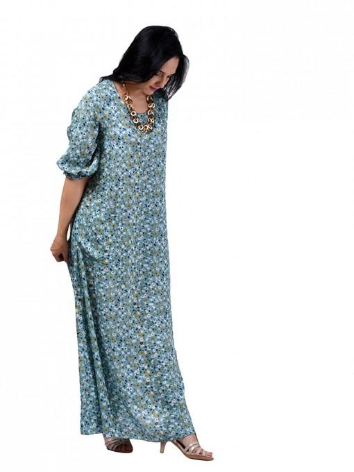 Платье мод. 2701-3 цвет Серо-голубой