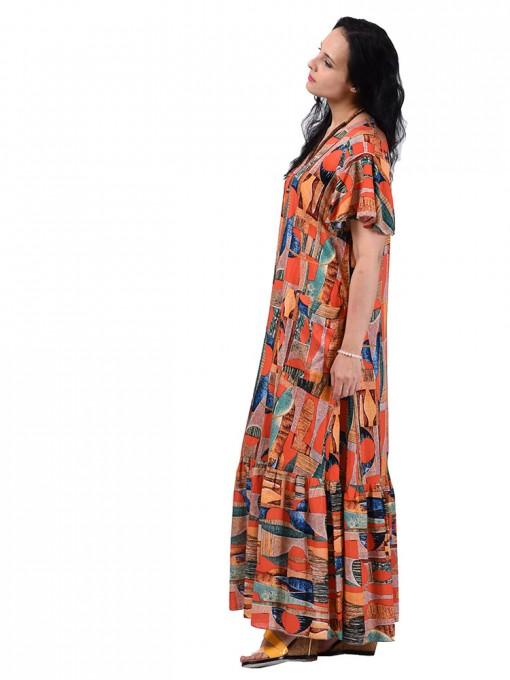 Платье мод. 2701-4 цвет Терракотовый