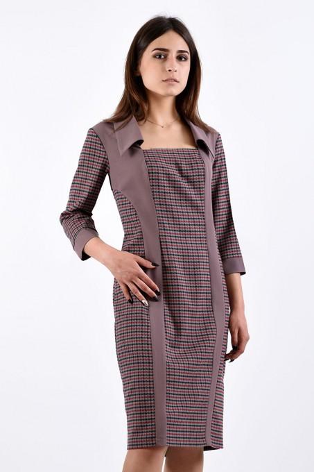 Платье мод. 3414 цвет Кофе