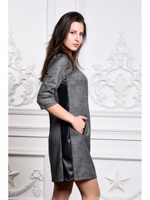 Платье мод. 3416 цвет Темно-серый