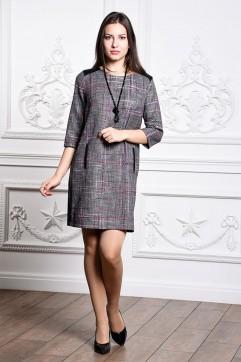 Платье мод. 3416 цвет Сиреневый