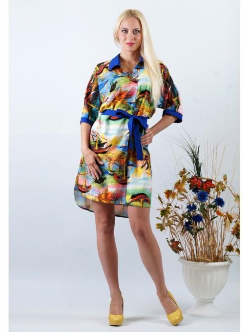 Платье мод. 3424 цвет Зеленый