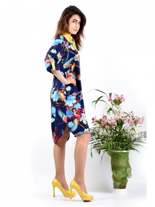 Платье мод. 3425 цвет Синий