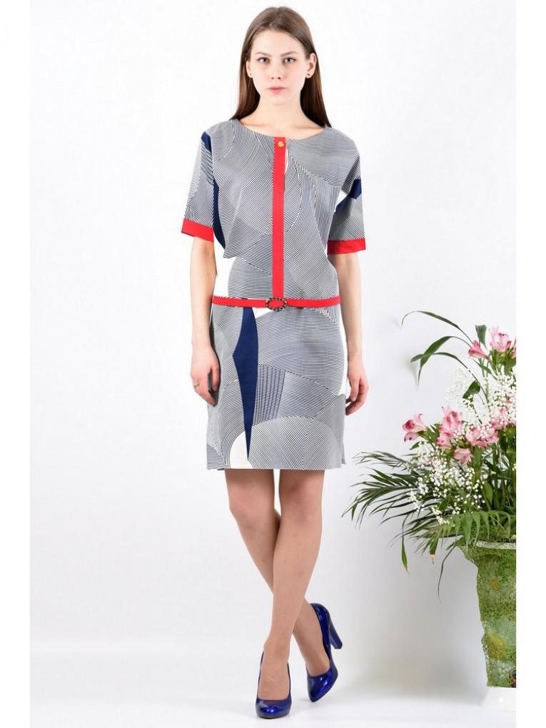 Платье мод. 3427 цвет Синий
