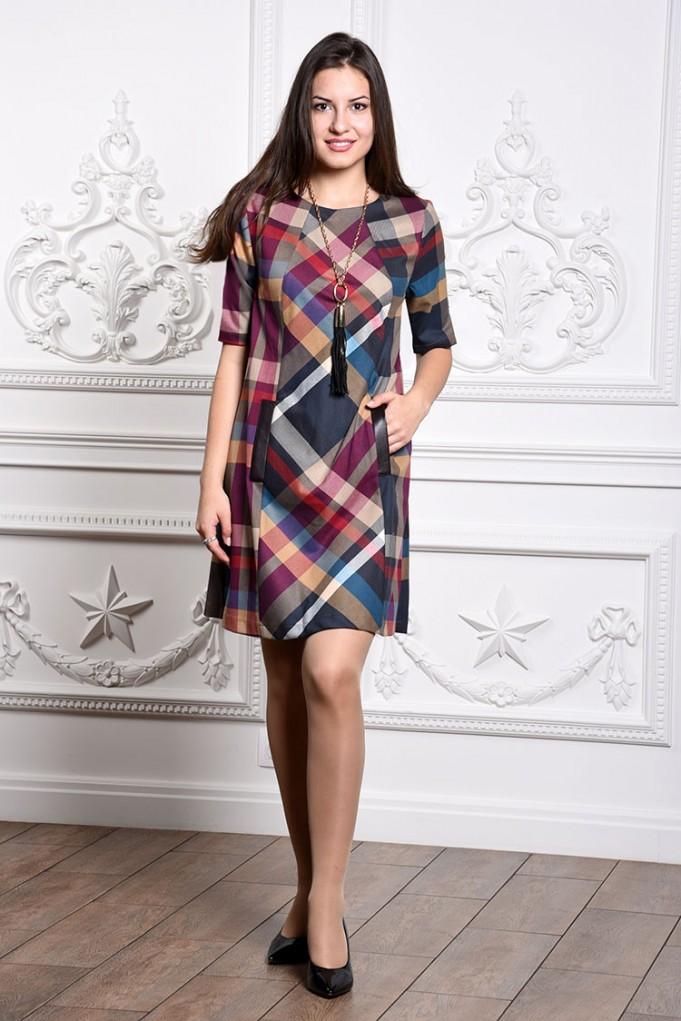 Платье мод. 3431 цвет Малиновый