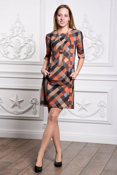 Платье мод. 3431 цвет Оранжевый