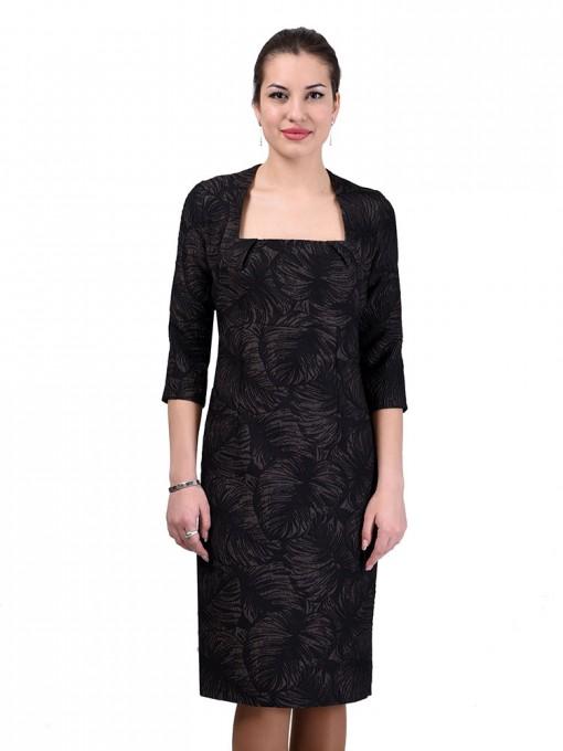 Платье мод. 3434 цвет Коричневый