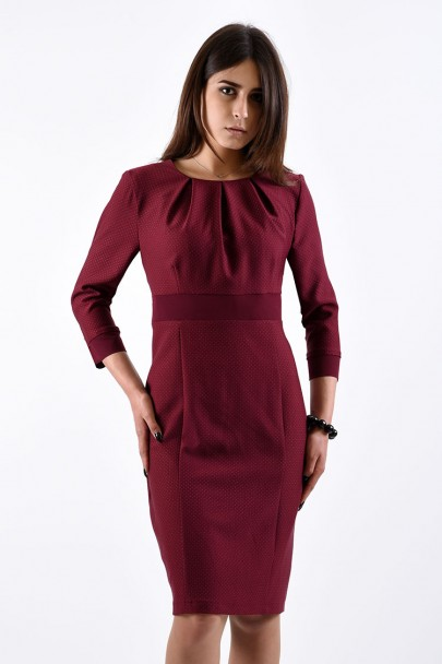 Платье мод. 3438 цвет Бордовый