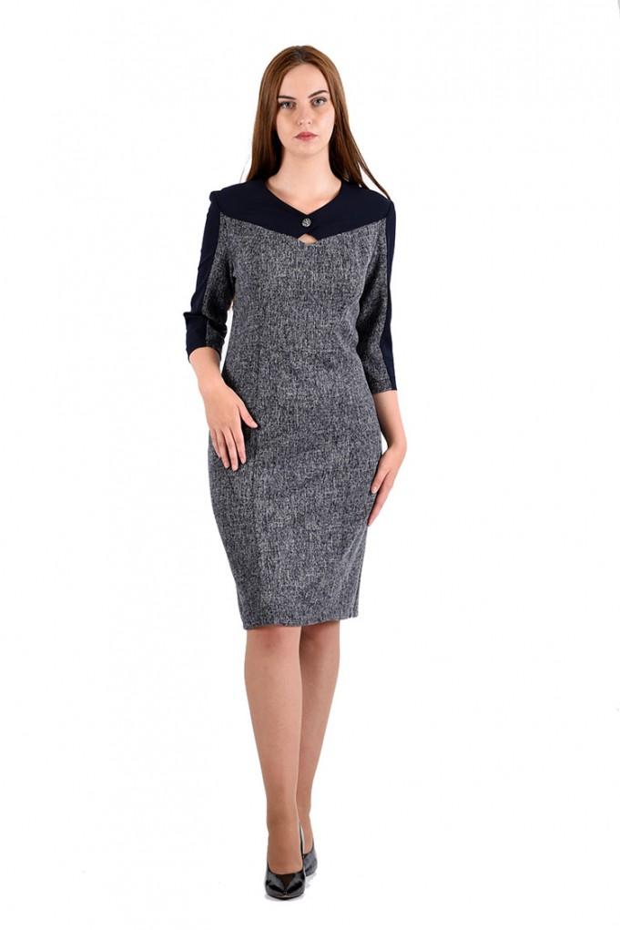 Платье мод. 3442 цвет Синий