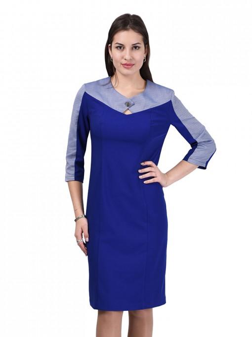 Платье мод. 3442 цвет Васильковый