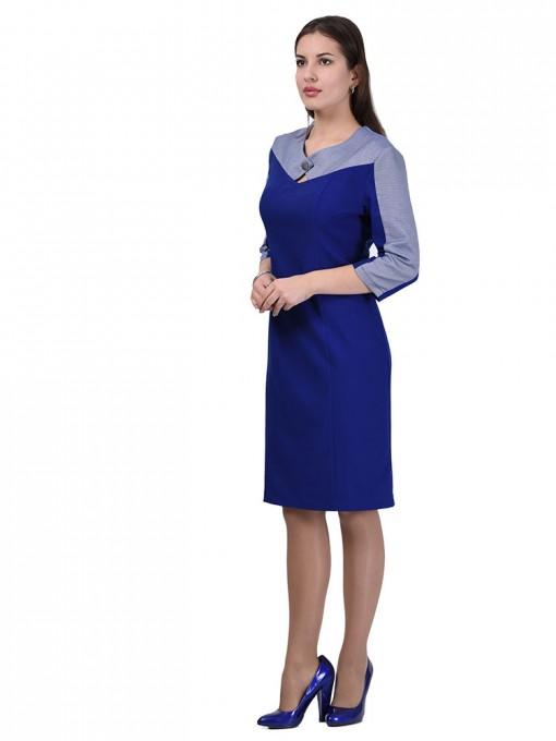 Платье мод. 3442 цвет Василек