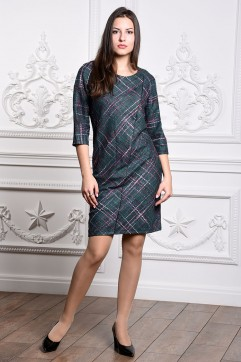 Платье мод. 3443 цвет Изумрудный