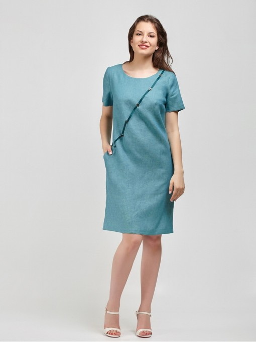 Платье мод. 3444-1 цвет Бирюза
