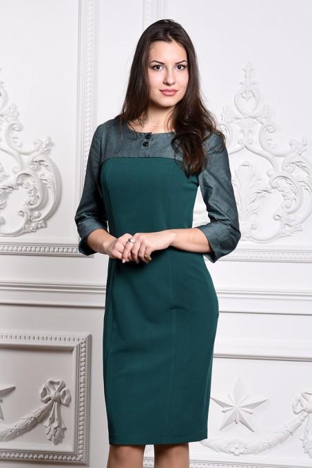 Платье мод. 3446 цвет Изумрудный