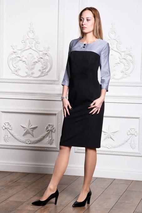 Платье мод. 3446 цвет Серый