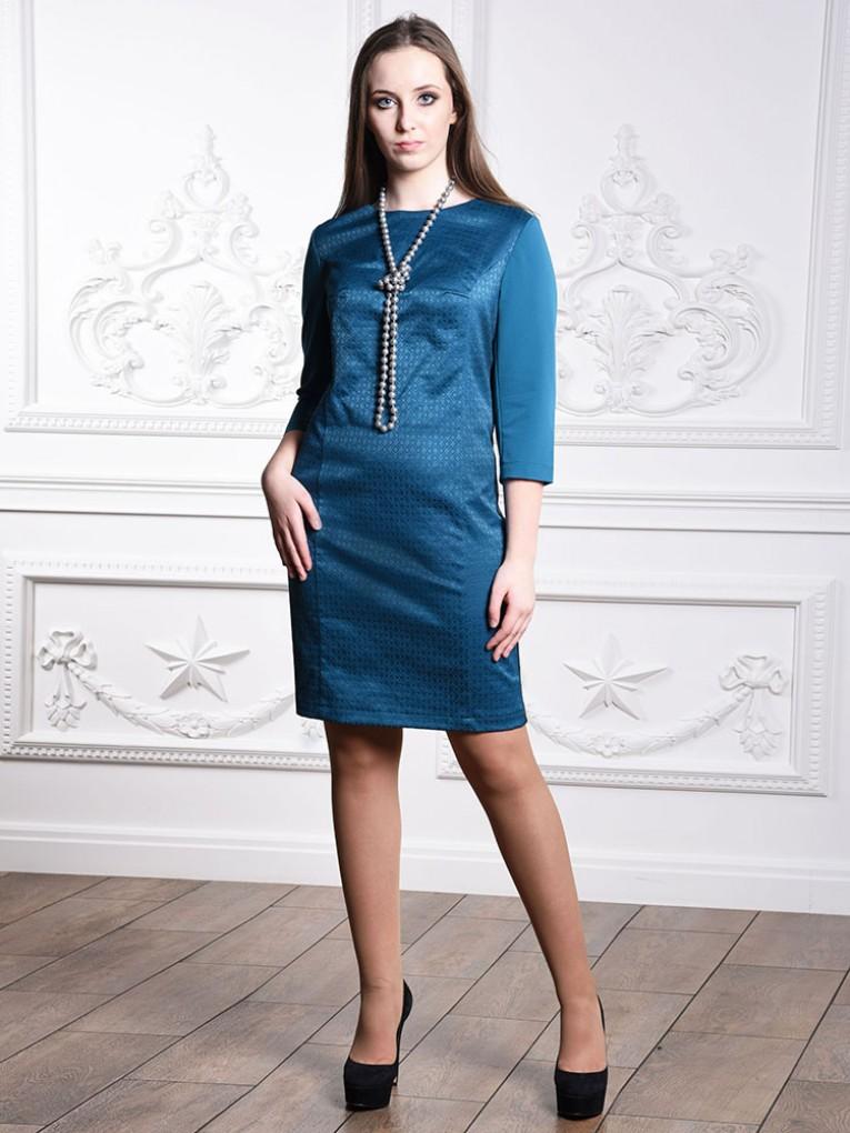 Платье мод. 3447 цвет Бирюзовый