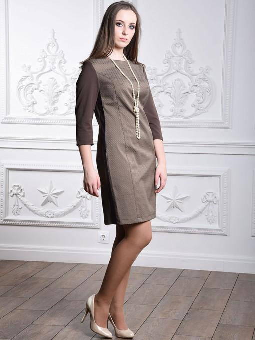 Платье мод. 3447 цвет Коричневый