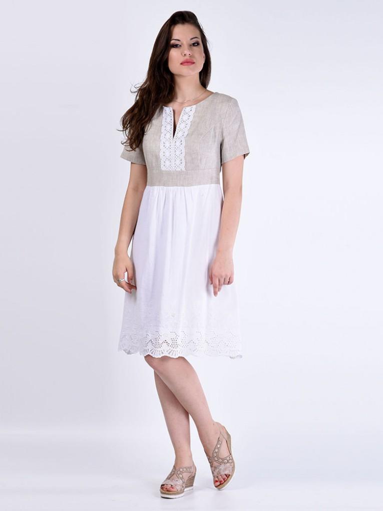 Платье мод. 3449-1 цвет Бежевый