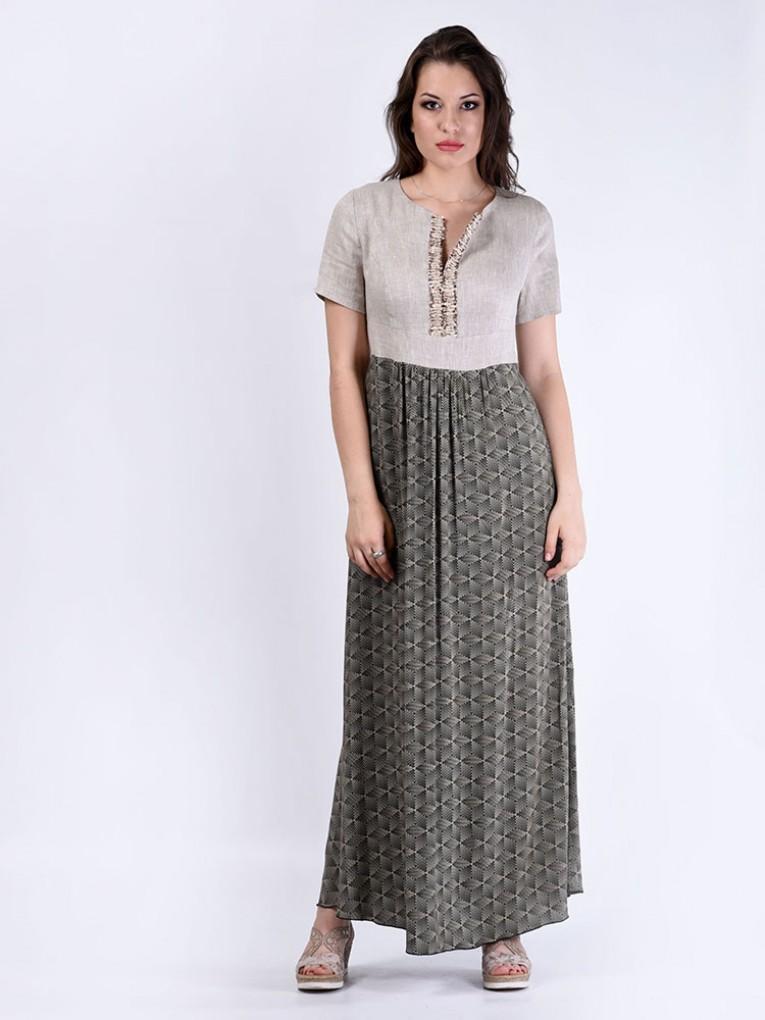 Платье мод. 3449 цвет Бежевый