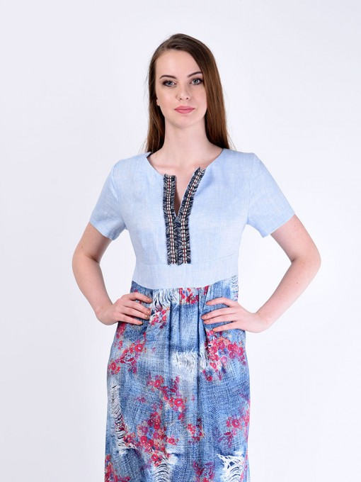 Платье мод. 3449 цвет Голубой