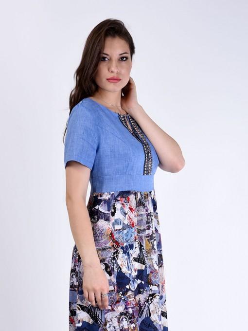 Платье мод. 3449 цвет Синий