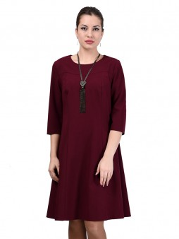 Платье мод. 3452 цвет Бордовый