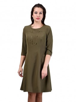 Платье мод. 3452 цвет Оливковый