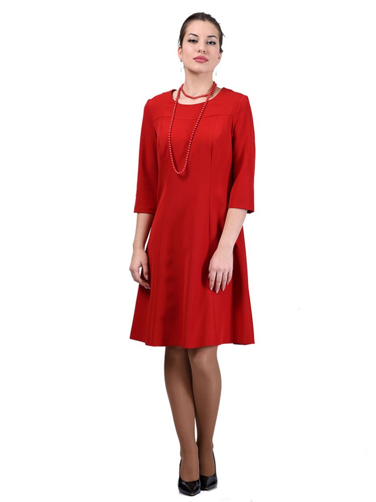 Платье мод. 3452 цвет Красный