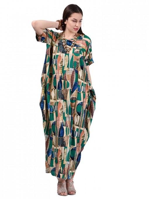 Платье мод. 3457 цвет Зеленый