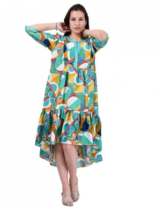 Платье мод. 3461 цвет Зеленый