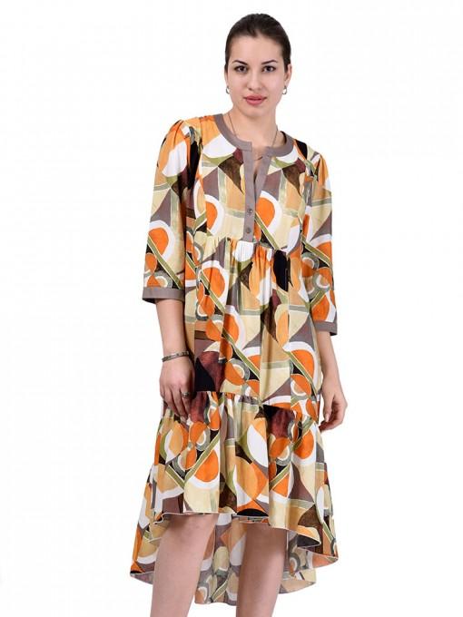 Платье мод. 3461 цвет Оранжевый